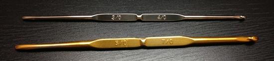 เข็มโครเชต์ทิวลิป 2 หัว เข็มทองและเข็มเงิน